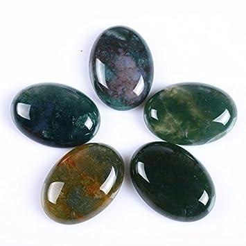 Blossom agate 30x22mm Oval Cabochon CAB Flatback Semi-precious Gemstone Ring Face