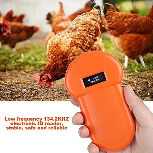 TTOP Pet ID Microchip Scanner, 134.2kHz ISO11784/11785/FDX-B/EMID Pet RFID Microchip Reader for Animal