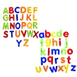 BCP set of 52 pcs Plastic Magnetic Uppercase and Lowercase Letters Alphabet for Kids Learning