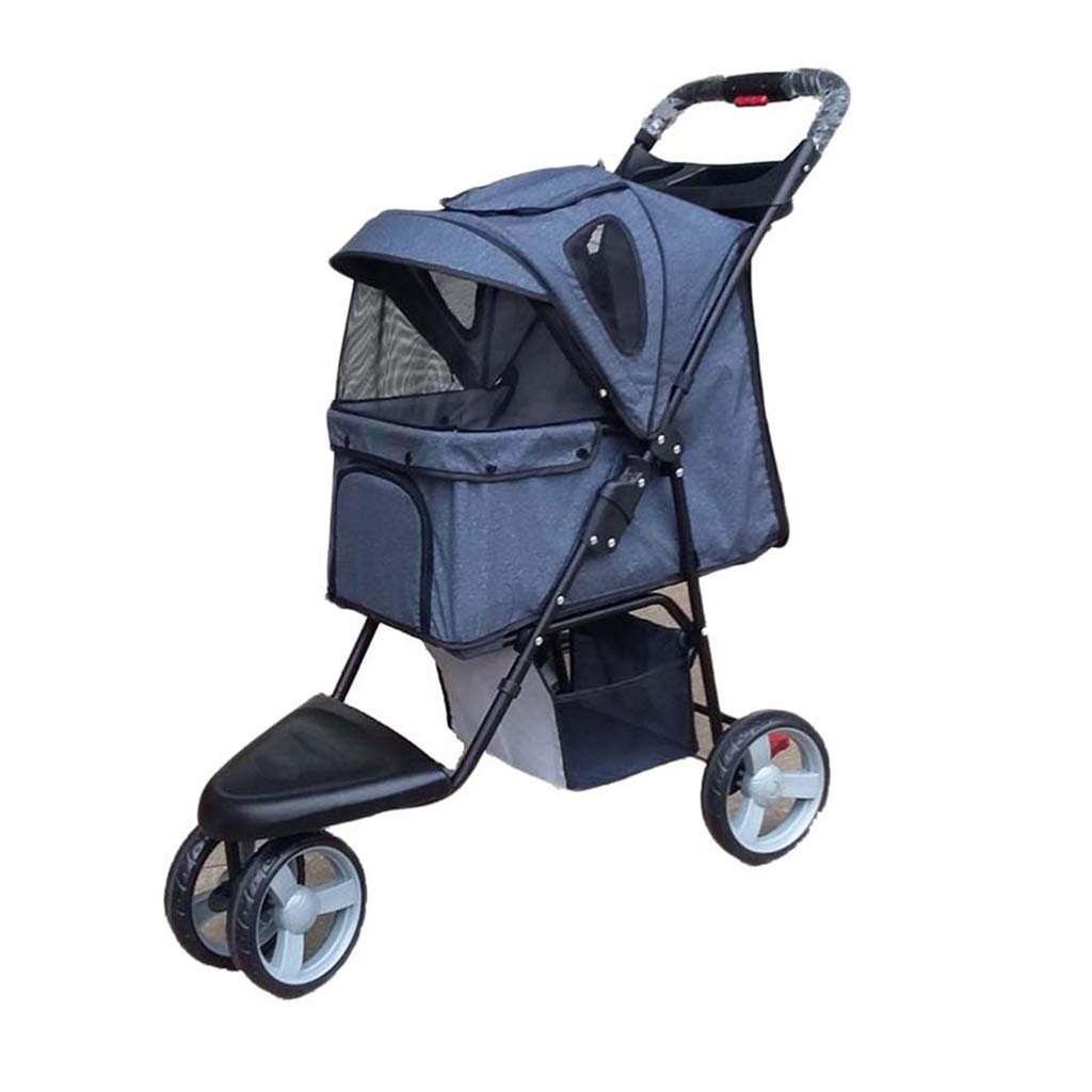 A Four Season Universal Pet Stroller, Foldable 3 Wheel Cat and Dog Cart
