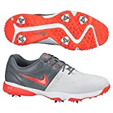 Nike Men's Air Rival III Golf Shoes - Platinum Grey White Crimson