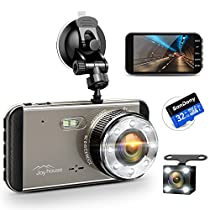 【2019進化版&フルHD1296P】 ドライブレコーダー 前後カメラ 32GB SDカード付き デュアルドライブレコーダー 1800万画素 170°広視野角 G-sensor WDR ドラレコ 4.0インチモニター ループ録画 リアカメラ付き