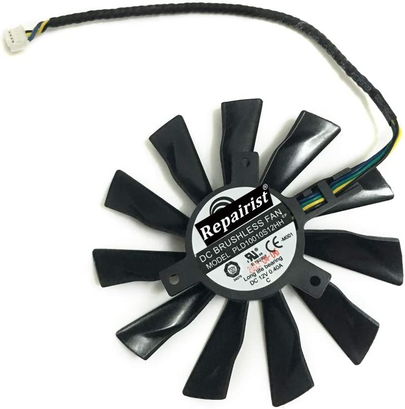 PLD10010S12HH Single GPU Cooler Graphics Card Fans for MSI R7 260 260X 265 2GD5 OC GeForce GTX 1060 GTX 1070 AERO GTX 770 760 R9 280X 290X Video VGA Cards Cooling (4Pin 100mm 40mmX40mm)