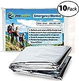 Best Emergency Mylars - Zenwells Emergency Mylar Thermal Blanket Bulk (10 Pack) Review