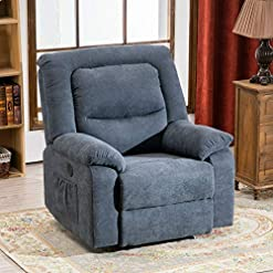 Living Room RELAXIXI Power Recliner Chair with Massage, Heat and USB Charge Port – Electric Recliner for Elderly – Soft Fabric Sofa…