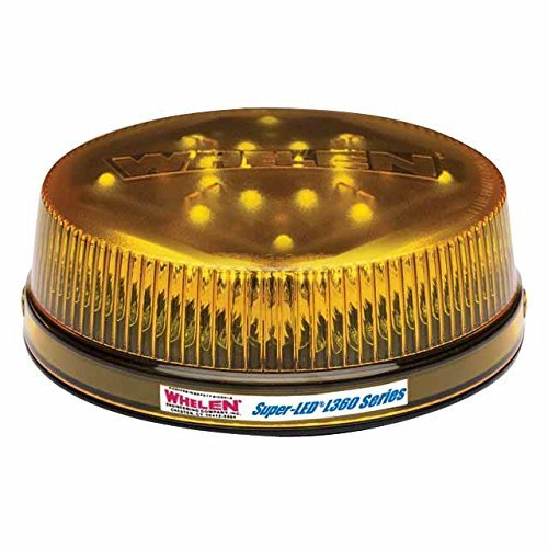 - Whelen Engineering L32 Series Super-LED Beacon - Low Dome, Flat Permanent Mount - Amber