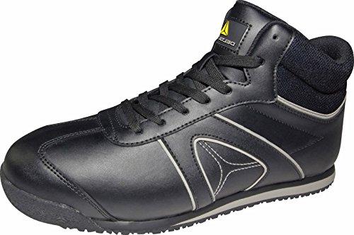 Chaussures Delta Plus - Botte Cuir Fleur Noire Sertie Taille 40, 1 Paire
