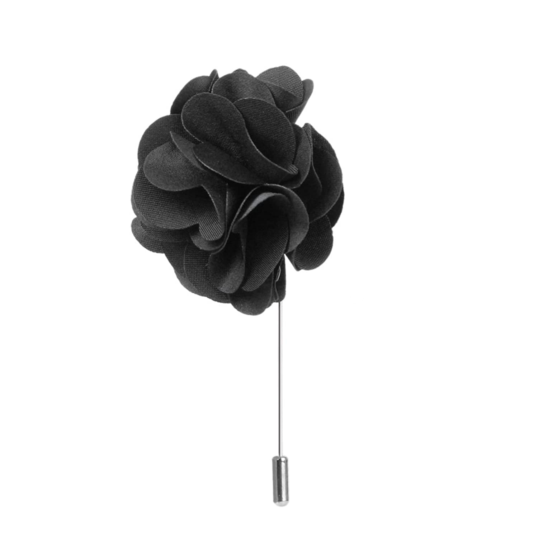 Mens suit boutonniere lapel pin flower brooch black amazon mens suit boutonniere lapel pin flower brooch black amazon clothing dhlflorist Choice Image