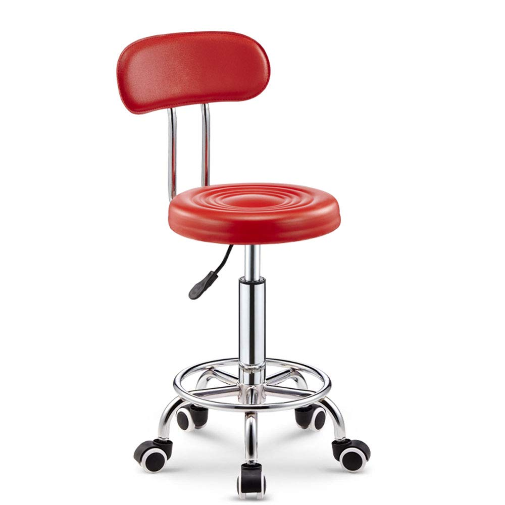 C HQCC Lifting Chair Round Stool Internet Cafe Bar Chair Study Transfer Chair Round (color   E)