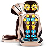 Massage Cushion with Heat Neck and Back Shiatsu,Massager Chair Full Body Massager Seat,Shiatsu Deep Kneading, Rolling,Airbag and Vibrating - Massage Full Back for Car Office and Home
