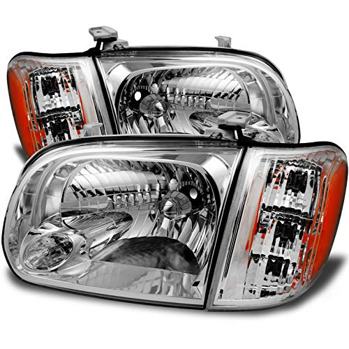 Xtune 2005-2006 Tundra Double Cab, 2005-2007 Sequoia Direct Fit Headlights Pair L+R