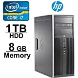 HP Elite 8200 i7 Workstation Computer- Core i7 3.4GHZ - NEW 1TB with 2 YEAR WARRANTY on HDD- 8GB RAM - WIFI - Windows 7 Pro 64-Bit- Refurbished