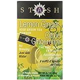 Stash Tea Lemon Ginger Powdered Green Iced Tea, 10 Tea Bags (Pack of 12)