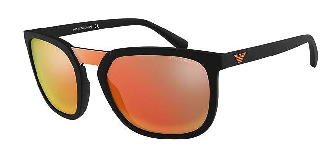 Emporio Armani 0EA4123 Gafas de sol, Matte Black, 45 para ...