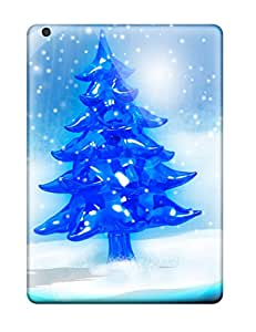 Rowena Aguinaldo Keller's Shop 4019865K68946402 Rugged Skin Case Cover For Ipad Air- Eco-friendly Packaging(snowy Christmas Tree)