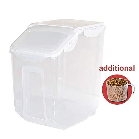 Baffect Contenedor de Alimentos,Caja de Almacenamiento para alimentación Animal, envase de Comida Seca