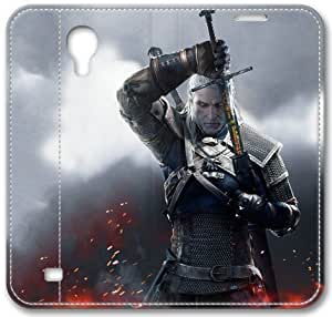 Witcher 3 Wild Hunt Geralt 2015 Genuine Case Leather Cover for Samsung Galaxy S4, Samsung Galaxy S4/ S 4/ S IV Leather Case by iCustomonline