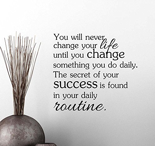 You will never change your life until you change something