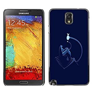 GagaDesign Phone Accessories: Hard Case Cover for Samsung Galaxy Note 3 - Funny Angler Fish Sea Monster