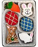 Beautiful Sweets Bunnies and Eggs Organic Cookies, 12 Cookies