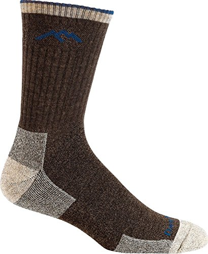 Darn Tough Vermont Merino Wool Micro Crew Cushion Sock, Chocolate, X-Large(12.5+) by Darn Tough