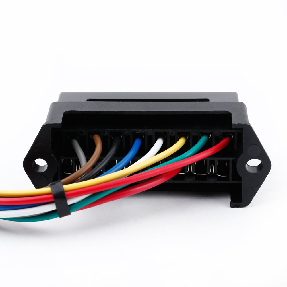 51dSSVJEMJL._SL1000_ amazon com kkmoon 8 way dc32v circuit blade fuse box fuse block Car Fuse Box Wiring at gsmx.co