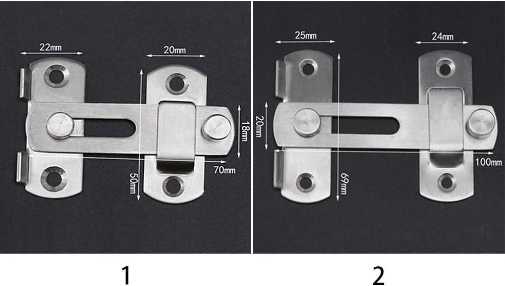 Gate Latch Flip Hard Jaula para mascotas Acero inoxidable Cerradura de cerrojo resistente al desgaste Gabinete de puerta anticorrosi/ón Seguridad para el hogar Ventana lisa 2