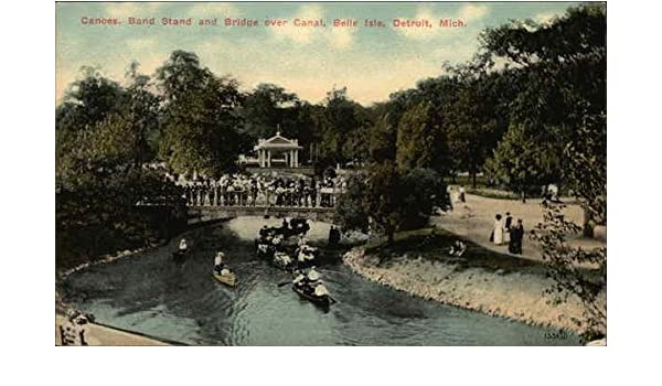 Amazon com: Canoes, Band Stand and Bridge over Canal, Belle