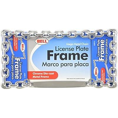 Bell Automotive 22-1-46009-8 Universal Chrome Mega-Metal Chain Design License Plate Frame: Automotive