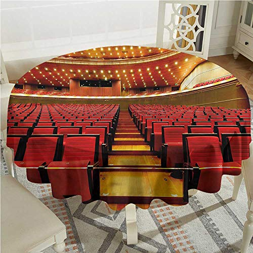 Tim1Beve Musical Theatre Spill-Proof Table Cover Grand Hall Chairs Table Cover for Kitchen Dinning Tabletop Decoratio D60 -