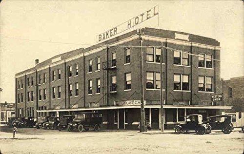 Baker Hotel, Western Union, Old Cars Baker, Oklahoma Original Vintage Postcard ()