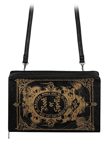 Black With Of Detachable Book Spells 23x14 Strap Shoulder Bag 5x6cm Clutch 1RwBZT7q8