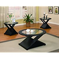 Coaster Home Furnishings 701501 3-Piece Contemporary Living Room Set, Black