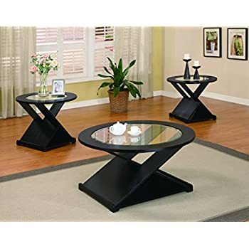 This Item Coaster Home Furnishings 701501 3 Piece Contemporary Living Room  Set, Black