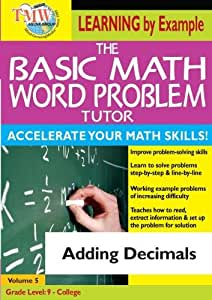 Basic Math Word Problem Tutor: Adding Decimals