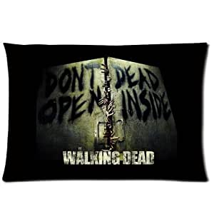Soft Pillow Case Cover Decorative Sofa Throw Pillow 20*30 Inch (Twin Sides) Zippered Pillowcase Walking Dead Don't Dead Open Inside Pattern Popular Design Gift for Fans Thanksgiving Mother's Day