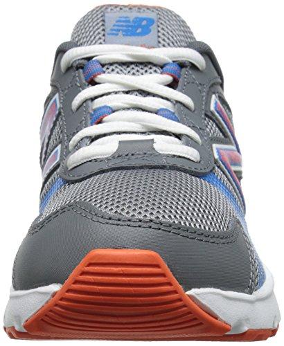 New Balance KJ555Y Running Shoe (Little Kid/Big Kid) Grey/Orange