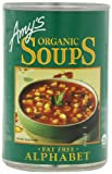 vegetable alphabet pasta - Amy's Organic Soups, Fat Free Alphabet, 14.1 Ounce (Pack of 12)