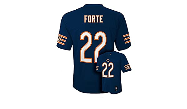 68092ebb7cd ... Amazon.com Matt Forte Chicago Bears Navy Blue NFL Youth 2015-16 Season  Mid ...