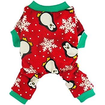 Amazon.com : Fitwarm Cute Penguin Xmas Pet Clothes for Dog Pajamas ...