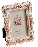 Gift Garden Roses Decor Picture Frame 4x6 Photo Display Frames 4 by 6 Inch for Wedding Gifts, Valentines Gifts, Gifts for Mom