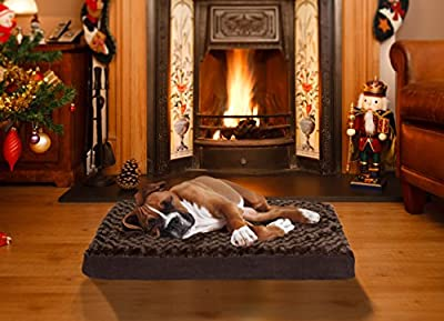 FurHaven NAP Pet Bed Egg-Crate Orthopedic Pet Mattress Deluxe Dog or Cat Bed, Water-resistant base