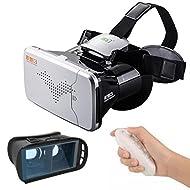 Combiné Omiky® réalité virtuelle Google en carton et Gamepad RC, 4.7~ 15,2cm Noir VR Box Lunettes 3d Google et plastique Blanc ABS Romote Control pour regarder la TV et jeux 3d
