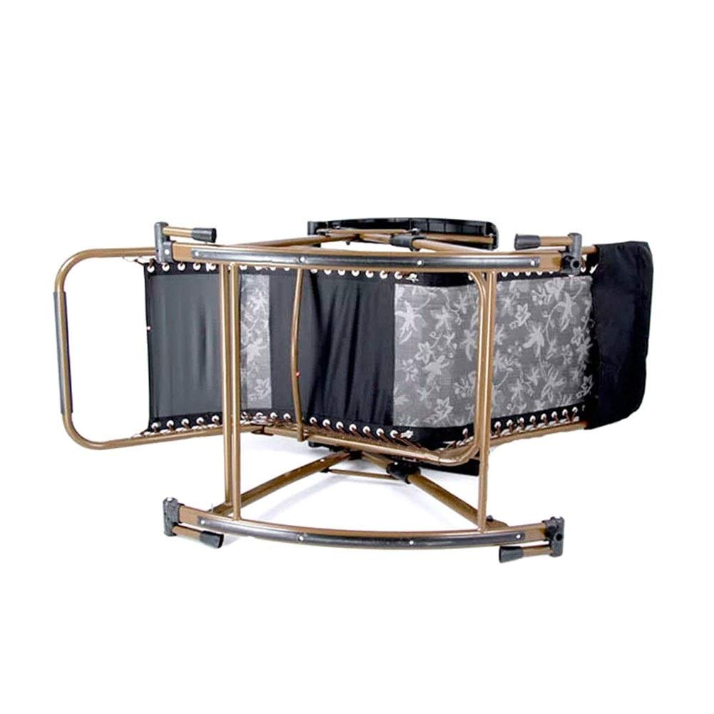 Zhongxingenggeng hopfällbar stol   bänkstol hopfällbar fåtöljer – gungstol fåtöljer balkong gungstol äldre stol hem gunga korg stol vardaglig lunchpaus stol (färg: B) en