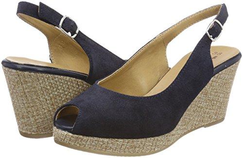 Zapatos cuero para vestir de mujer 29303 Navy de Tamaris Azul 5UqxZRpwU