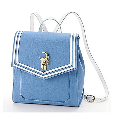 7395735bba1b Ehdching Anime Sailor Moon Tsukino Usagi Backpack Cosplay Schoolbag (Blue)