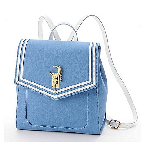 Ehdching Anime Sailor Moon Tsukino Usagi Backpack Cosplay Schoolbag (Blue)