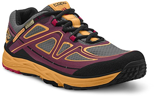 Topo Athletic Hydroventure Running Shoe - Women's Burgundy/Peach 8 by Topo Athletic