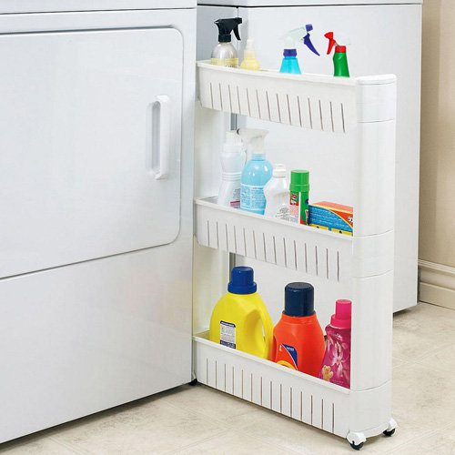 Narrow Sliding Storage Organizer Rack Vandue SLIDEOUTSTORAGE