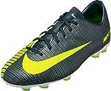 Nike Kids' Jr. Mercurial Vapor XI CR7 FG Soccer Cleat (Sz. 2Y) Seaweed